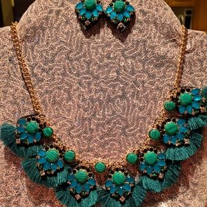 💝 Green stones and leather set